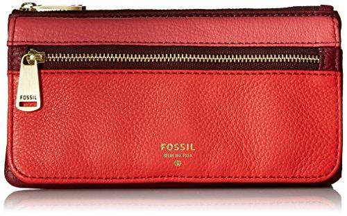 Fossil Preston Flap Wallet, Red/Multi (Fossil Preston Leather Flap compare prices)