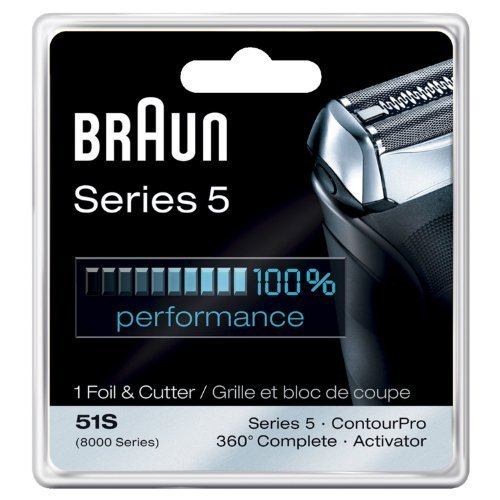 Braun Series 5 Combi 51s Foil And Cutter Replacement Pack (Formerly 8000 360 Complete Or Activator), Dual pack (Count) by N/A