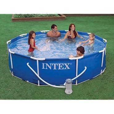 Intex 10' x 30 Metal Frame Set Swimming Pool with Filter Pump | 28201EH
