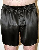 SEXY Black 100% Charmeuse SILK Mens Boxer Shorts Underwear New