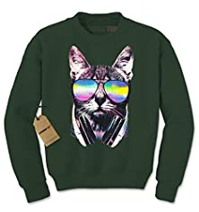 buy Crew Dj Cat Adult Large Forest Green