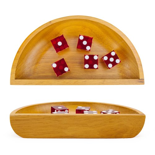 Lowest Price! Brybelly Holdings GCRA-004 Wooden Craps Dice Boat