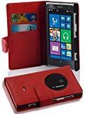 Nokia Lumia 1020 case , Cadorabo © Lumia 1020 Case Wallet [RED] Premium PU leather Wallet Case Flip Cover for Lumia 1020- RED [Lifetime Warranty]