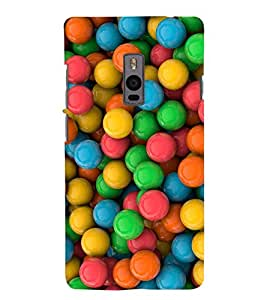 Chiraiyaa Designer Printed Premium Back Cover Case for OnePlus Two 1+2 (balls colorful) (Multicolor)