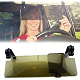 PIXNOR Durable Anti Glare Anti-dazzle Clip-on Auto Car Sun Visor Mirror Sun Shield