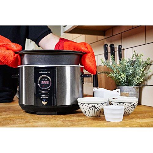 Andrew-James-35L-Sizzle-to-Simmer-2-in-1-Digitaler-Slow-Cooker-Schongarer-mit-Entnehmbarer-Aluminiumbratpfanne-2-Jahre-Garantie