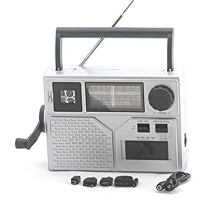 EMERGENCY CRANK AM FM SW RADIO LED FLASHLIGHT CHARGERby LEDwholesalers 3111