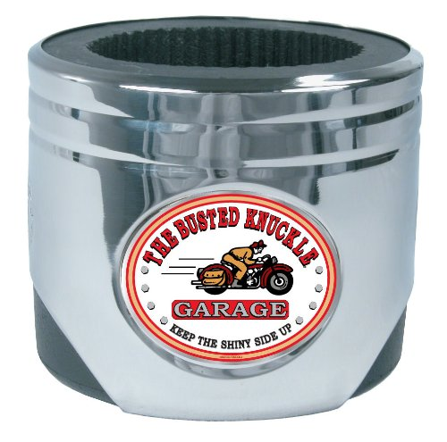 Busted Knuckle Garage BKG-MH-2135 Piston Can Holder with Motorcycle Logo (Busted Knuckle Garage Clock compare prices)