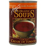 Amy's Organic Light in Sodium Cream Of Tomato Soup, 14.5-Ounce Cans (Pack of 12) ~ Amy's Organic
