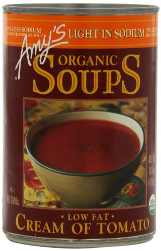 Amy's Light in Sodium Organic Soups, Low Fat Cream of Tomato, 14.5 Ounce (Pack of 12)