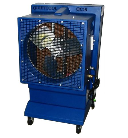 Quietaire QC18DVS 18 Inch Direct Drive Portable Evaporative Cooler With 60 Gallon Water Reservoir