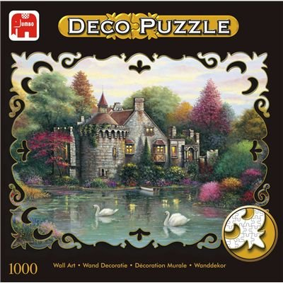Cheap Jumbo Hidden Lake Chateau 1000pc Deco Jigsaw Puzzle (B000EWC0ZC)
