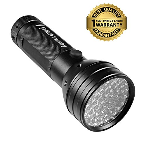 Goliath-Industry-UV-Handheld-Black-Light-Flashlight-For-Home-Hotel-Inspection-Pet-Urine-Stain-Detection-Spots-Counterfeit-Money-Dangerous-Leaks-Ideal-For-Scorpion-Hunting