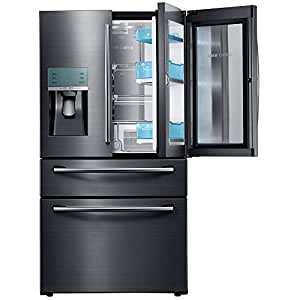 French Door Refrigerator in Black Stainless Steel: Kitchen & Dining