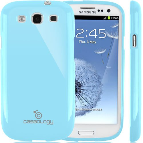 Galaxy S3 Case, Caseology [Drop Protection] Samsung Galaxy S3 Case [Sky Blue] Slim Fit Tpu Cover [Shock Absorbent] Armor Bumper Galaxy S3 Case [Made In Korea] (For Samsung Galaxy S3 Verizon, At&T Sprint, T-Mobile, Unlocked) front-939263