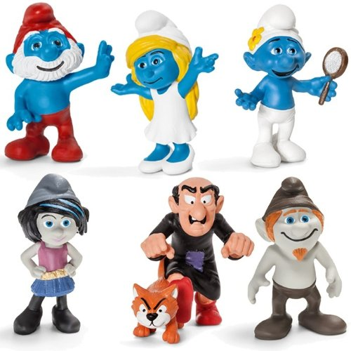 Schleich - Set Film Smurfs / Puffi (6 pieces) 5/2013 - 20754, 20755, 20756, 20757, 20758, 20759