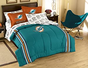 NFL Miami Dolphins Full Bed in a Bag with Applique Comforter by Northwest