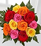 FTD Flowers Mixed Rose Birthday Bouquet-12 Stems