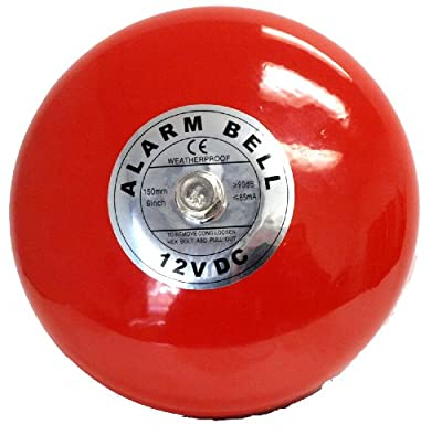 "Fire Alarm Bell, 12 V, 6"""