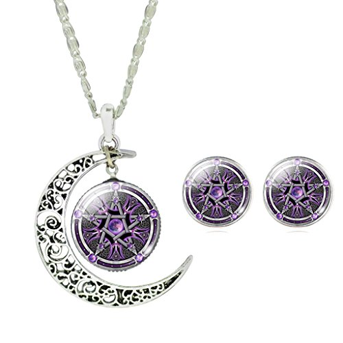 Girls Magic Witch Pentagram Necklace