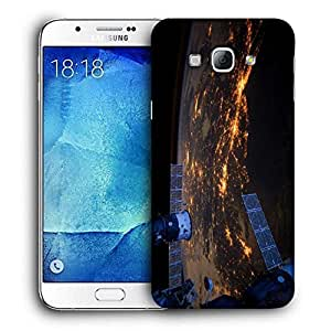 Snoogg Day And Night Printed Protective Phone Back Case Cover For Samsung Galaxy A8