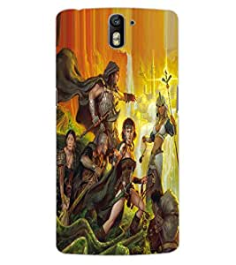 ColourCraft Printed Design Back Case Cover for OnePlus One