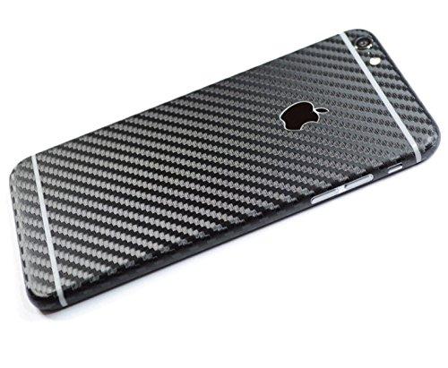 Kapa Full Body Carbon Fiber Vinyl Skin Sticker Cover for Iphone 6 PLUS / 6S PLUS - Black