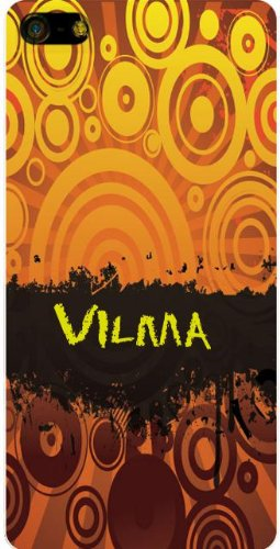 Personalized iPhone 5 back cover case / skin with Vilma
