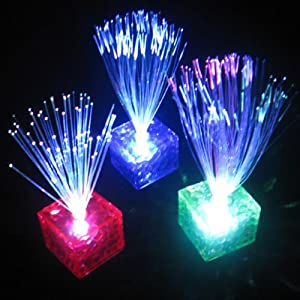 Fibre Optic Light Lamp Multicolor LED Cube Stand Night Home Xmas Party Wedding Decoration by Familymall by FamilyMall Co., LTD