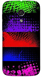 Significant multicolor printed protective REBEL mobile back cover for Motorola Moto G (2014) 1st Gen D.No.N-L-14451-MG1