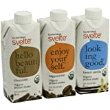 CalNaturale Svelte Organic Gluten Free Protein Shake, Variety Pack, 11 Ounce (Pack of 12)
