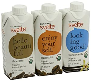 CalNaturale Svelte Organic Protein Shake, Variety Pack, 11 Ounce Aseptic Boxes (Pack of 12)