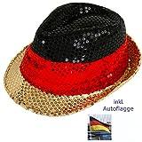 """Hut """"Germany"""" mit Pailetten - Deutschlandhut Fanhut"""