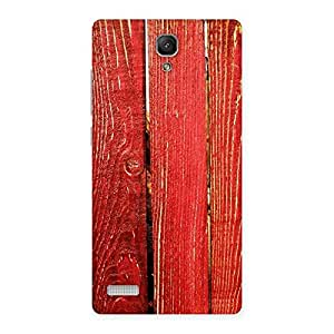 Gorgeous Red Bar Wood Print Back Case Cover for Redmi Note 4