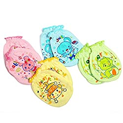 EIO Printed Mittens For New Born(Pack of 4)