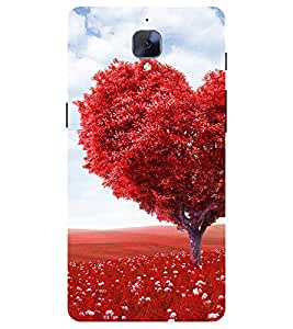 Chiraiyaa Designer Printed Premium Back Cover Case for One Plus 3 (heart boy girl friend valentine miss kiss tree nature) (Multicolor)