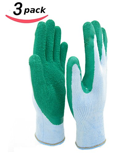 Homwe gardening gloves for women and men texture grip for Gardening gloves ladies