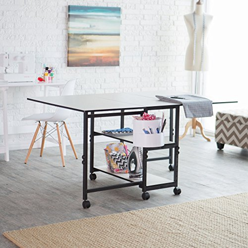 Sullivans Home Hobby Adjustable Height Foldable Table, 59 x 35.8
