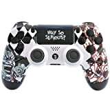 MASK PS4 PRO Rapid Fire Custom Modded Controller 40 Mods for All Major Shooter Games, Fortnite & More, custom LED (CUH-ZCT2U) (Color: white)