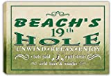 scpi1-1945 BEACH'S Golf 19th Hole Bar Stretched Canvas Print Sign