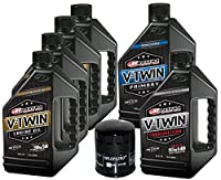 MaximaHiflofiltro VTTOCK21 Complete Engine Oil Change Kit for V-Twin Synthetic Blend Harley Davidson Twin Cam, 6 quart by MaximaHiflofiltro