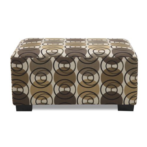 Poundex Banford Ottoman in Dark Chocolate Color