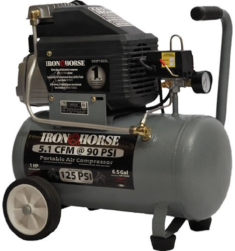 Iron Horse IHHP1065L 6.5-Gallon 125 PSI Max Electric Compressor (Iron Horse Compressor Parts compare prices)