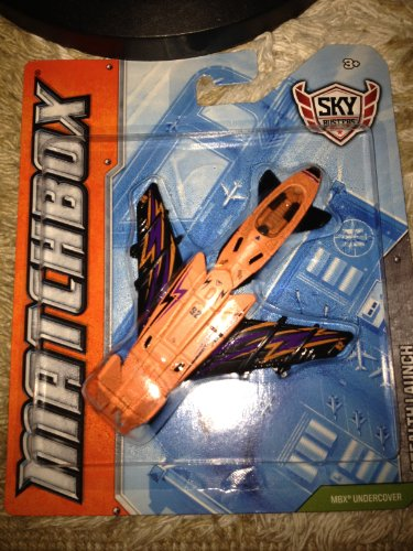 2011 Matchbox Sky Busters MBX Undercover Stealth Launch Orange & Purple Lightning Special Variant