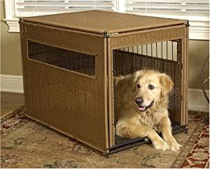 Mr. Herzher's Wicker Dog Crate - Large/Natural