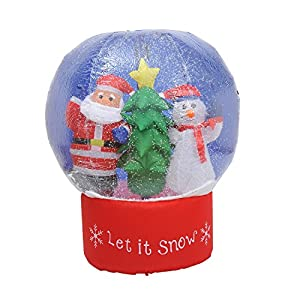 4 39 inflatable led lit christmas snow globe w for Outdoor christmas globes