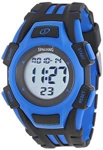 Spalding Men's SP1000-102 Hard Court Durable Blue Digital Watch