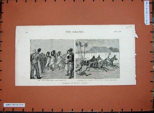 1887 Sports Burmah Mules Racing Ladies Water Chattee
