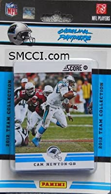 2012 Score Carolina Panthers Factory Sealed 12 Card Team Set Including Cam Newton, Steve Smith, Jonathan Stewart, Jon Beason, Brandon Lafell, Deangelo Williams, Charles Johnson, Greg Olsen, James Anderson, Mike Tolbert, Joe Adams and Luke Kuechly.