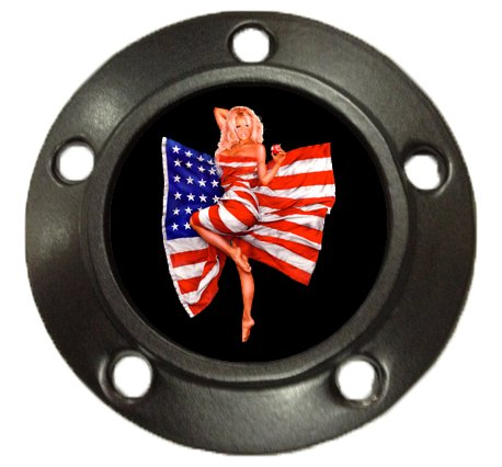 D&L DerbyCappers Red Skull Timer Cover for Harley Davidson Motorcycles - Matte Black Finish - 5 bolt pattern